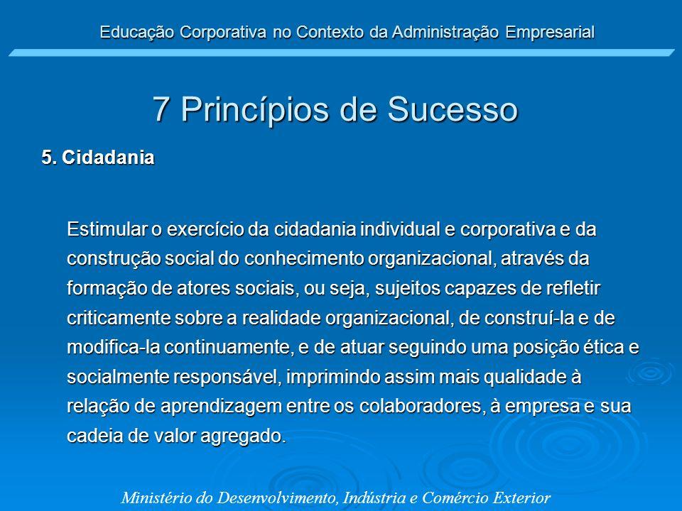 7 Princípios de Sucesso 5. Cidadania