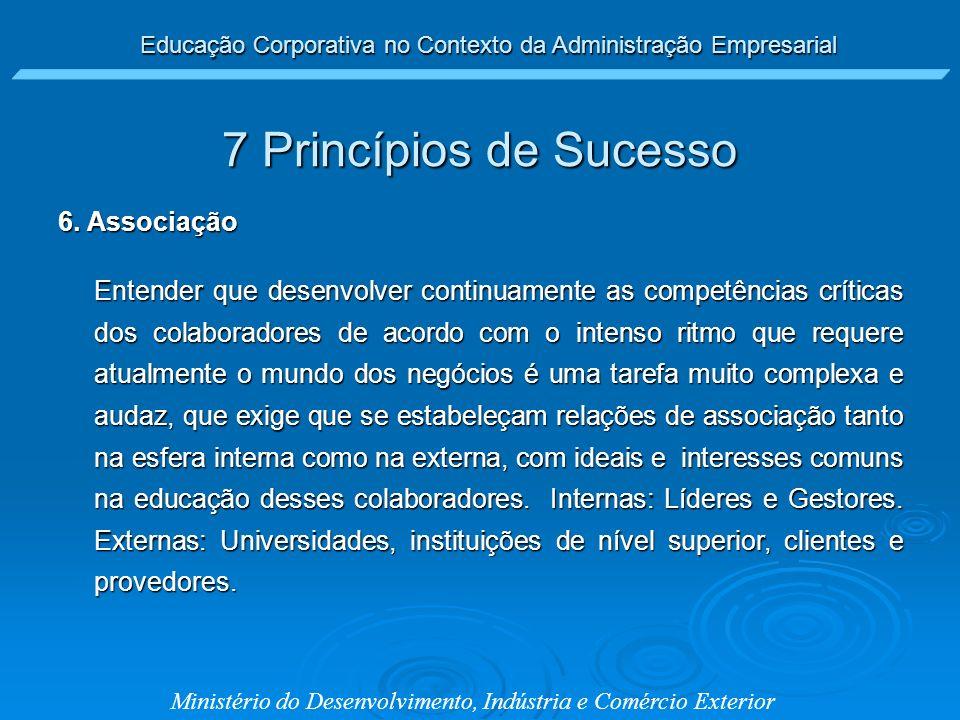 7 Princípios de Sucesso 6. Associação