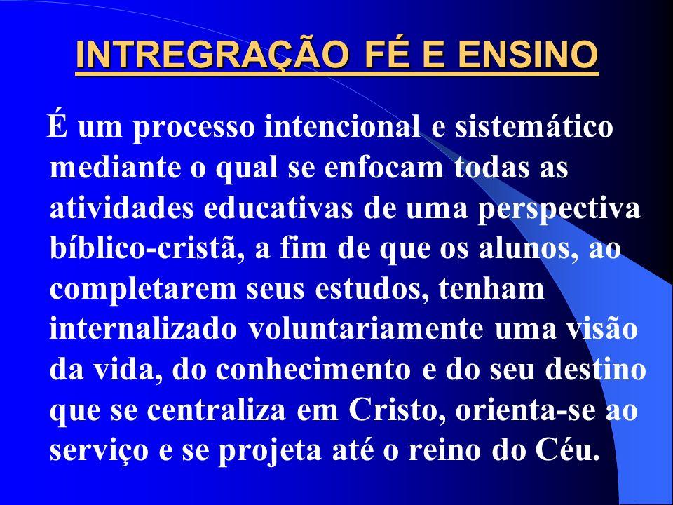 INTREGRAÇÃO FÉ E ENSINO