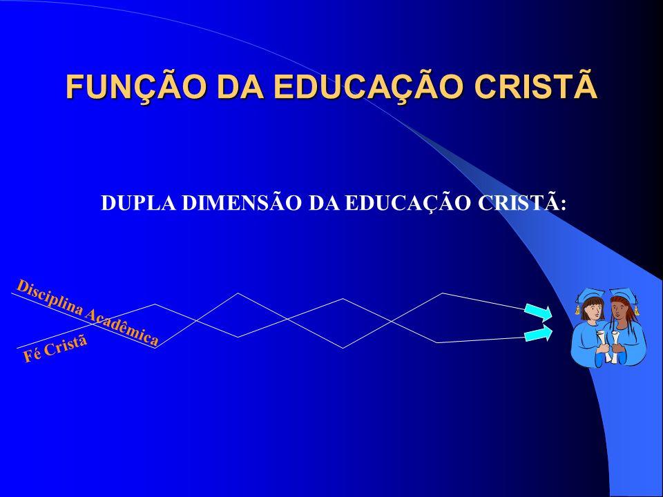 FUNÇÃO DA EDUCAÇÃO CRISTÃ