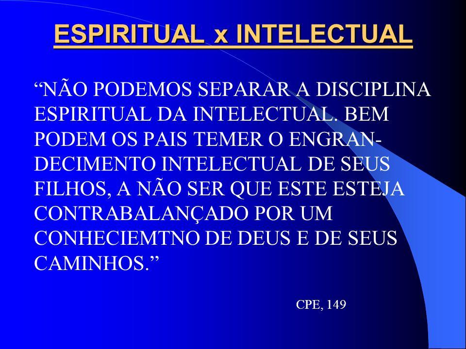 ESPIRITUAL x INTELECTUAL