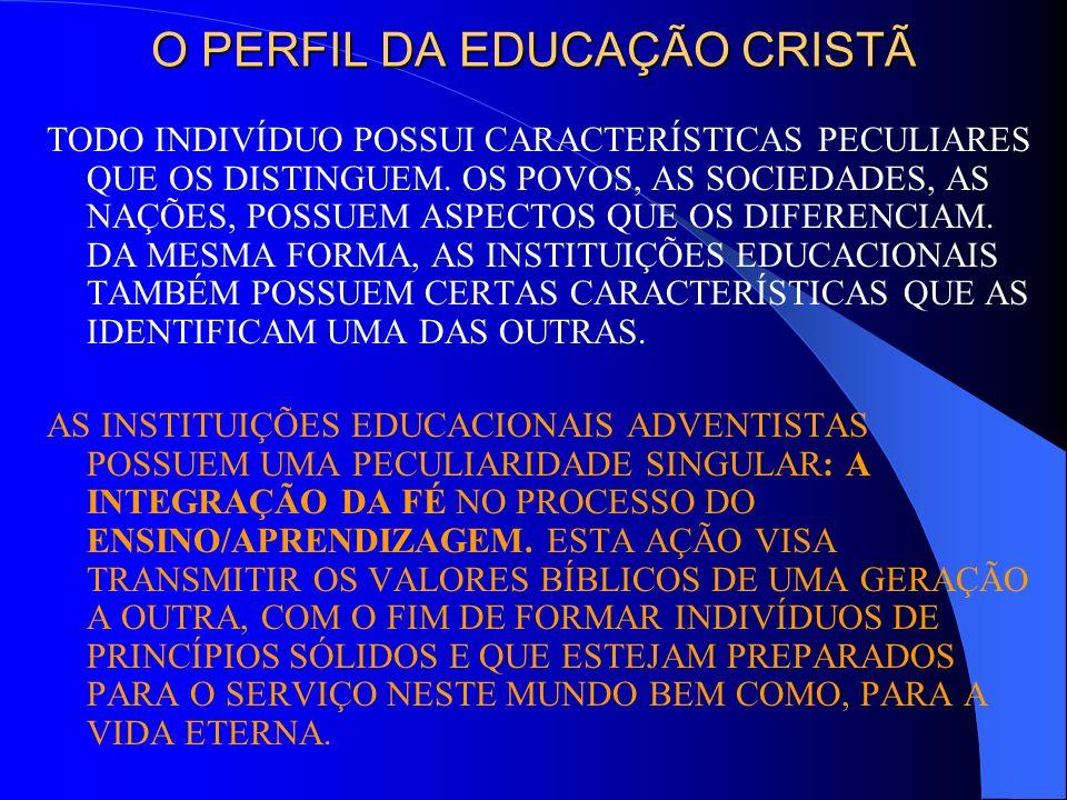 O PERFIL DA EDUCAÇÃO CRISTÃ