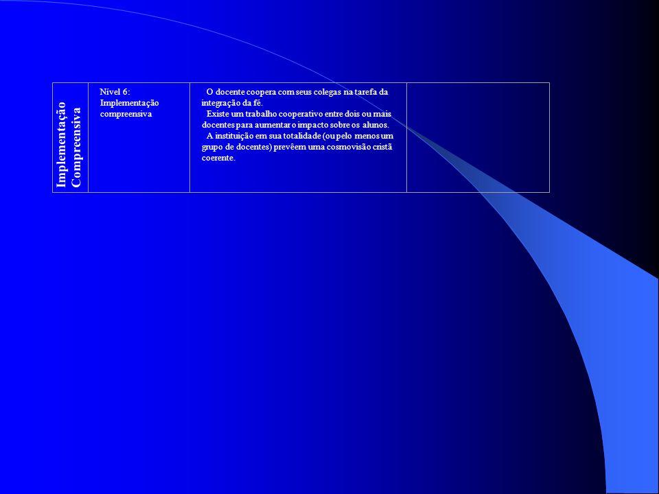 Implementação Compreensiva Nível 6: Implementação compreensiva