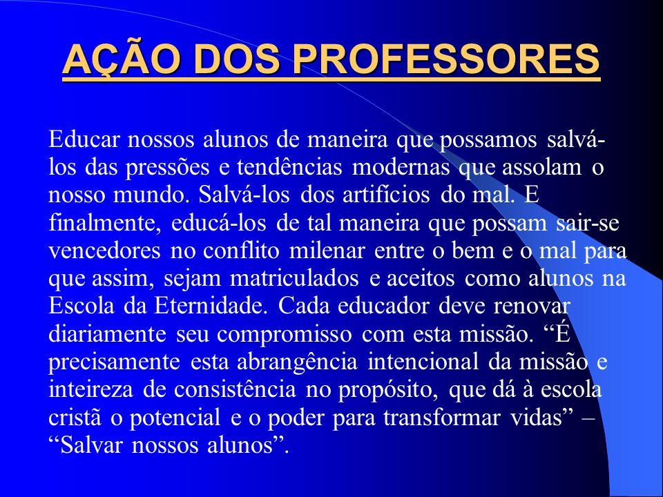 AÇÃO DOS PROFESSORES