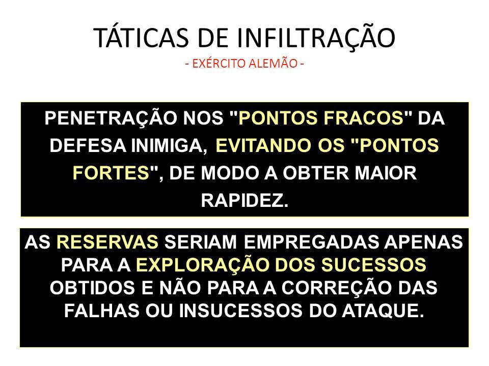 TÁTICAS DE INFILTRAÇÃO - EXÉRCITO ALEMÃO -
