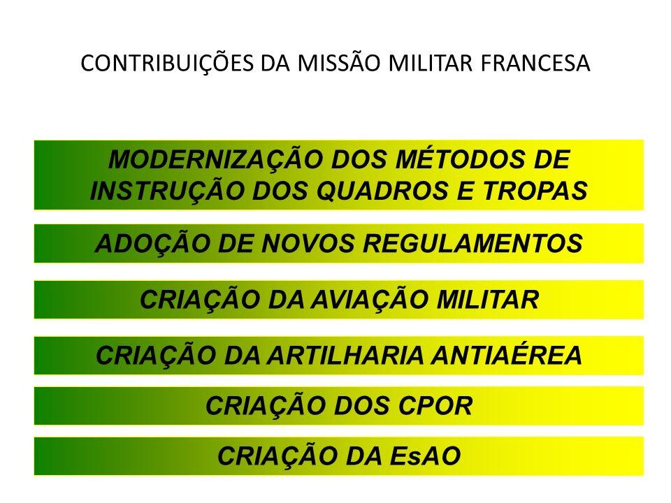 CONTRIBUIÇÕES DA MISSÃO MILITAR FRANCESA