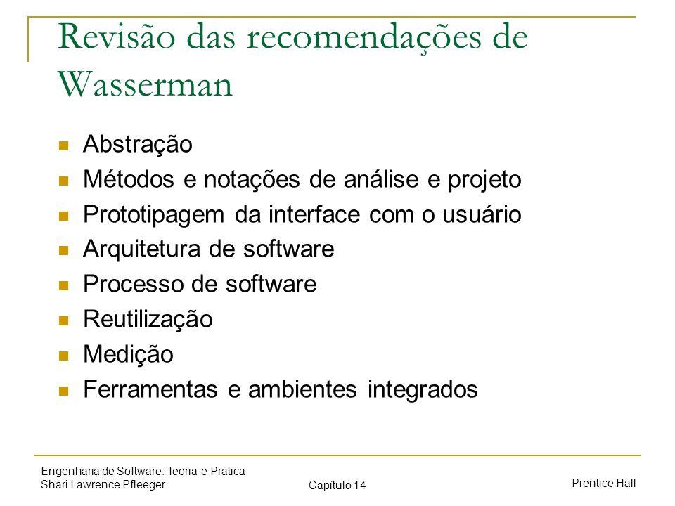 Revisão das recomendações de Wasserman