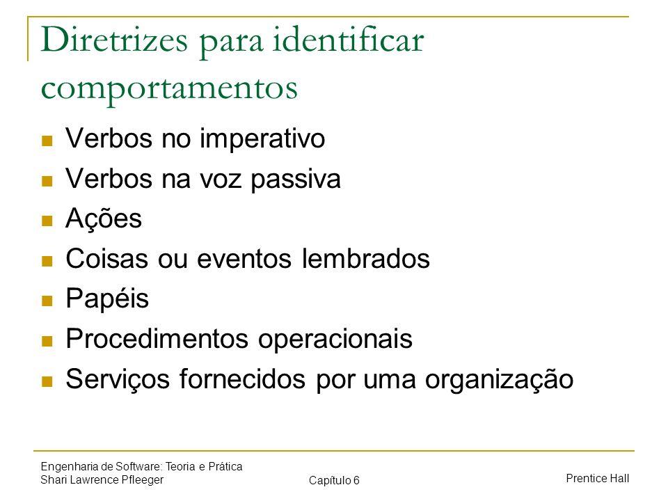 Diretrizes para identificar comportamentos