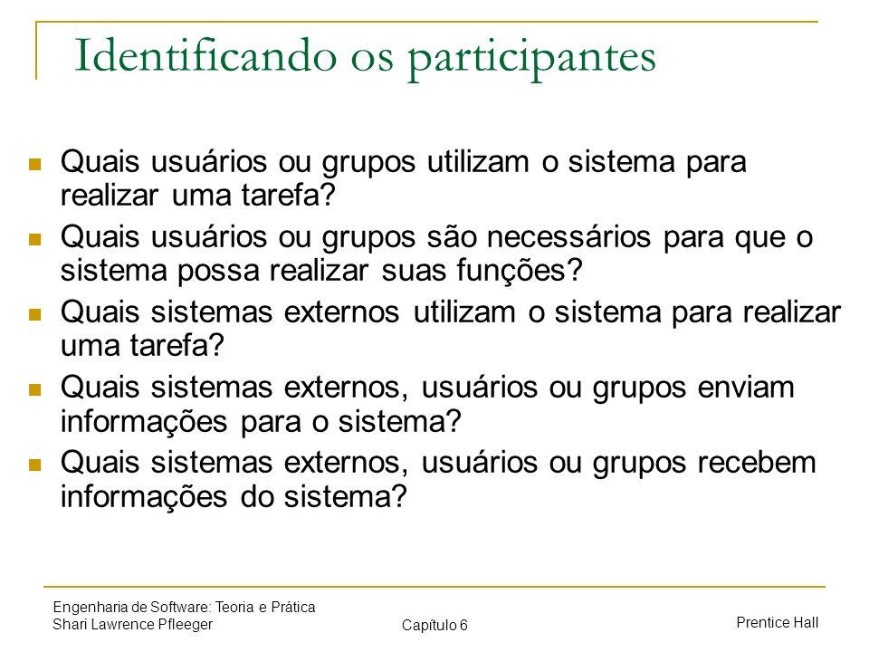 Identificando os participantes