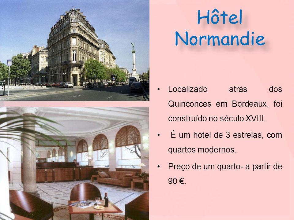 Hôtel NormandieLocalizado atrás dos Quinconces em Bordeaux, foi construído no século XVIII. É um hotel de 3 estrelas, com quartos modernos.