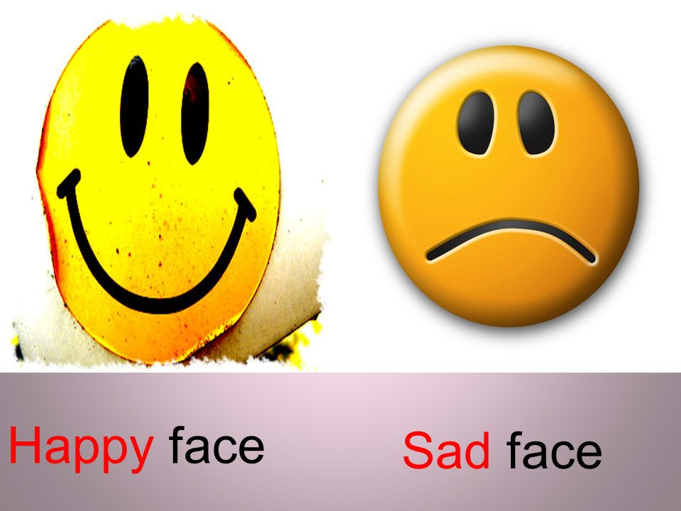 Happy face Sad face