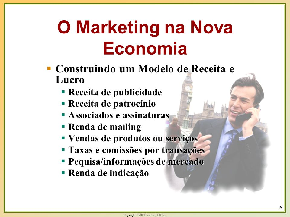 O Marketing na Nova Economia