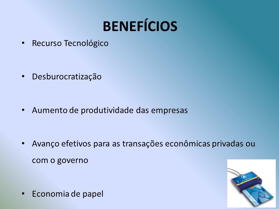 BENEFÍCIOS Recurso Tecnológico Desburocratização