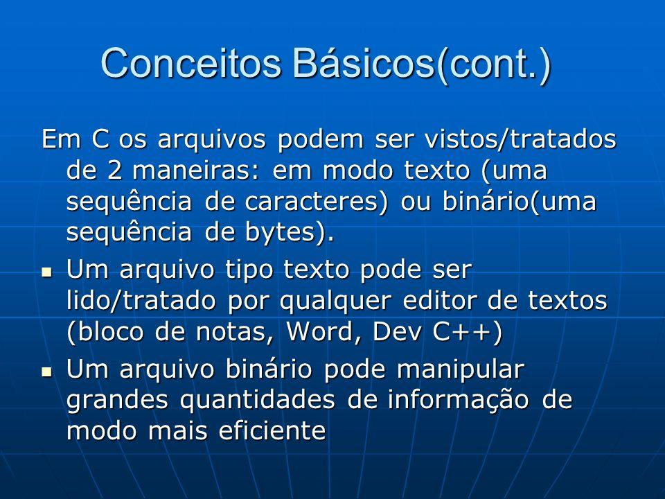 Conceitos Básicos(cont.)