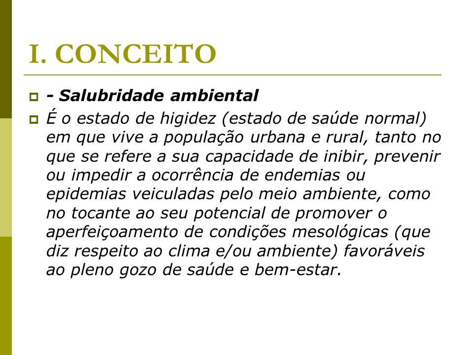 I. CONCEITO - Salubridade ambiental