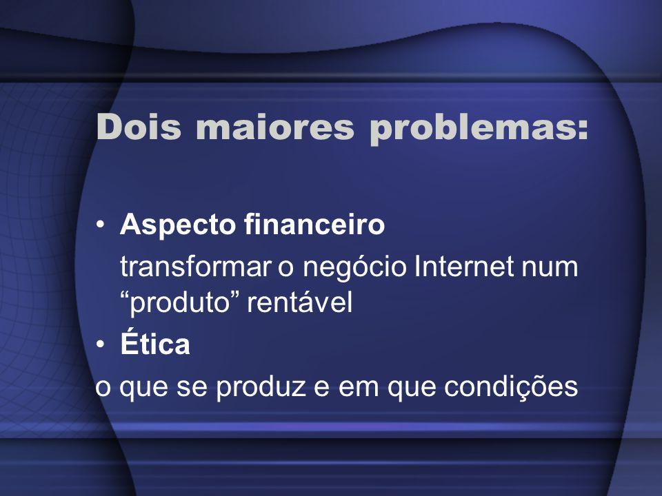 Dois maiores problemas: