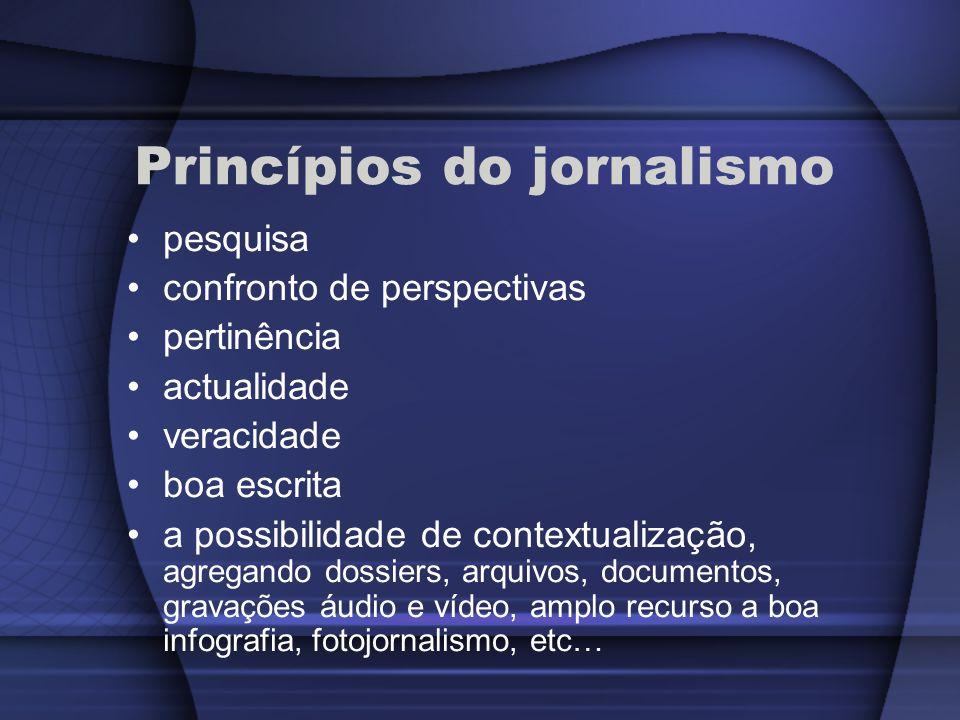 Princípios do jornalismo