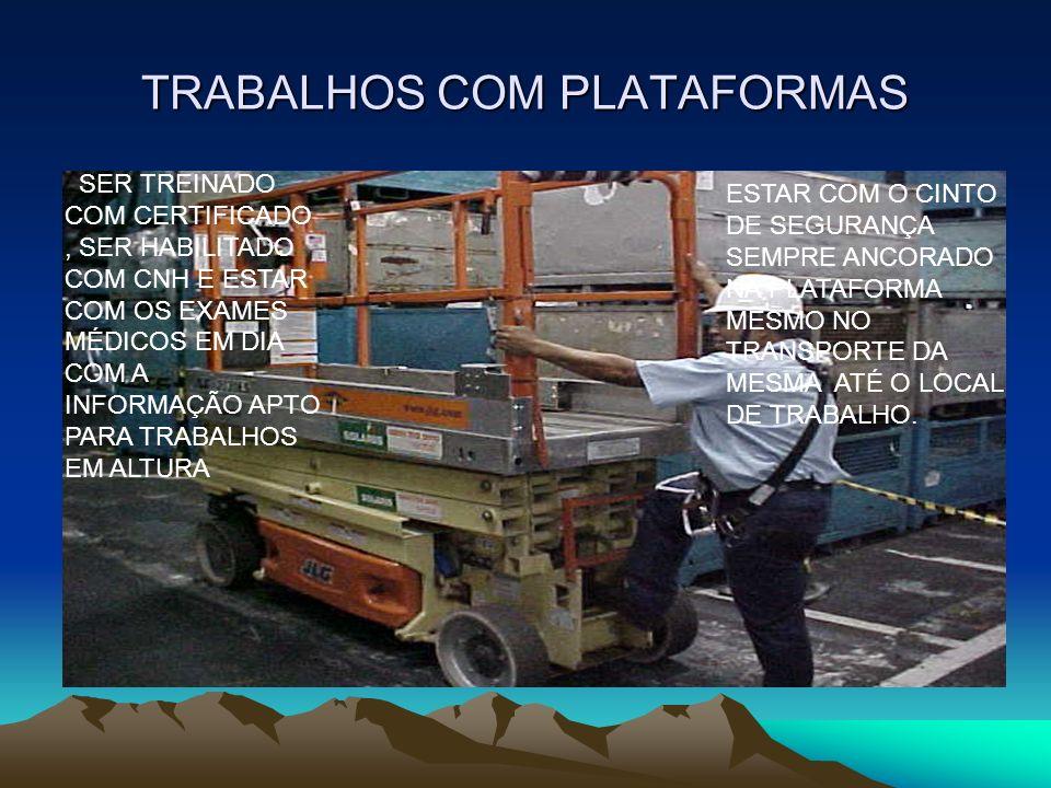 TRABALHOS COM PLATAFORMAS
