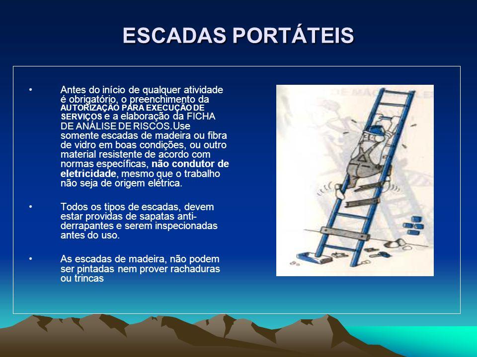 ESCADAS PORTÁTEIS