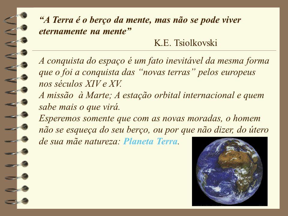A Terra é o berço da mente, mas não se pode viver eternamente na mente