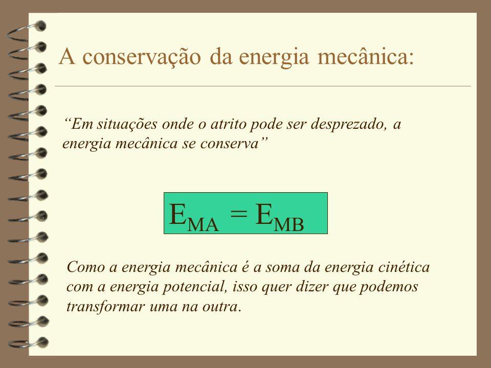 A conservação da energia mecânica: