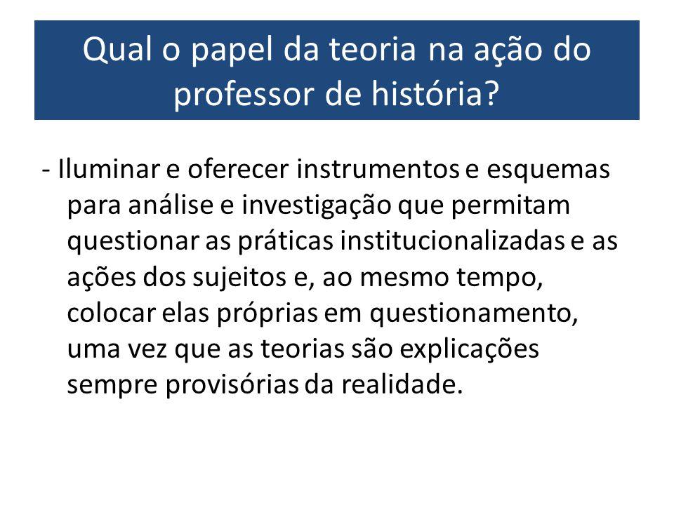 Qual o papel da teoria na ação do professor de história