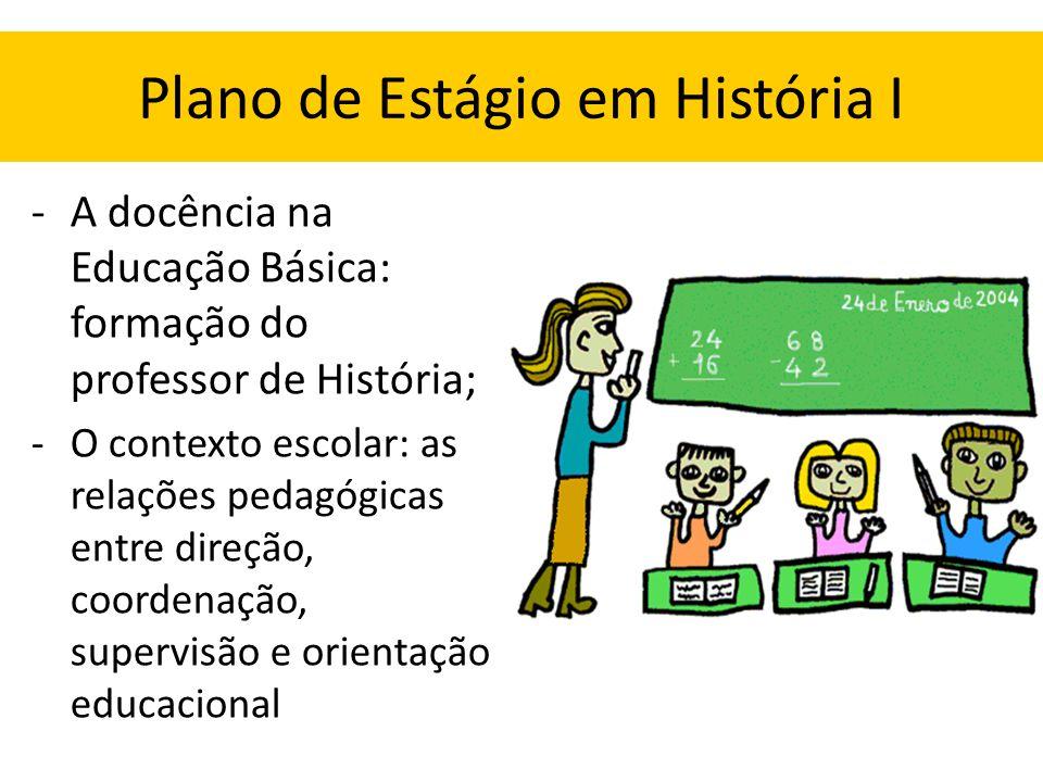Plano de Estágio em História I