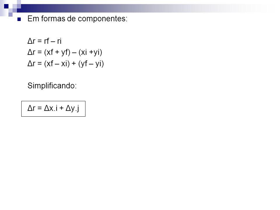 Em formas de componentes: