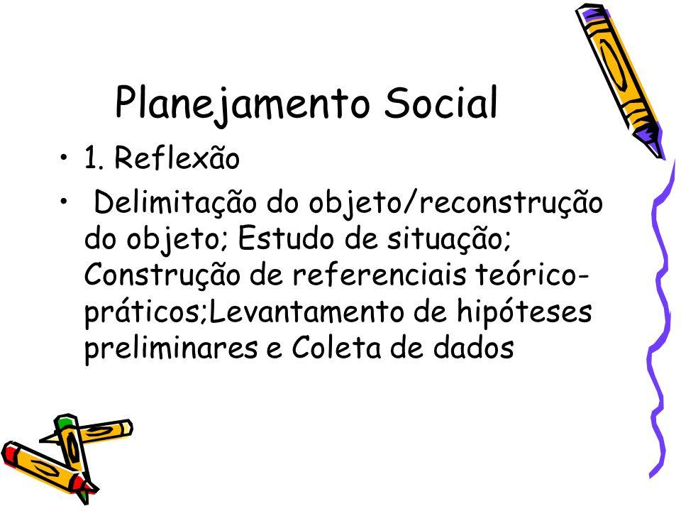 Planejamento Social 1. Reflexão