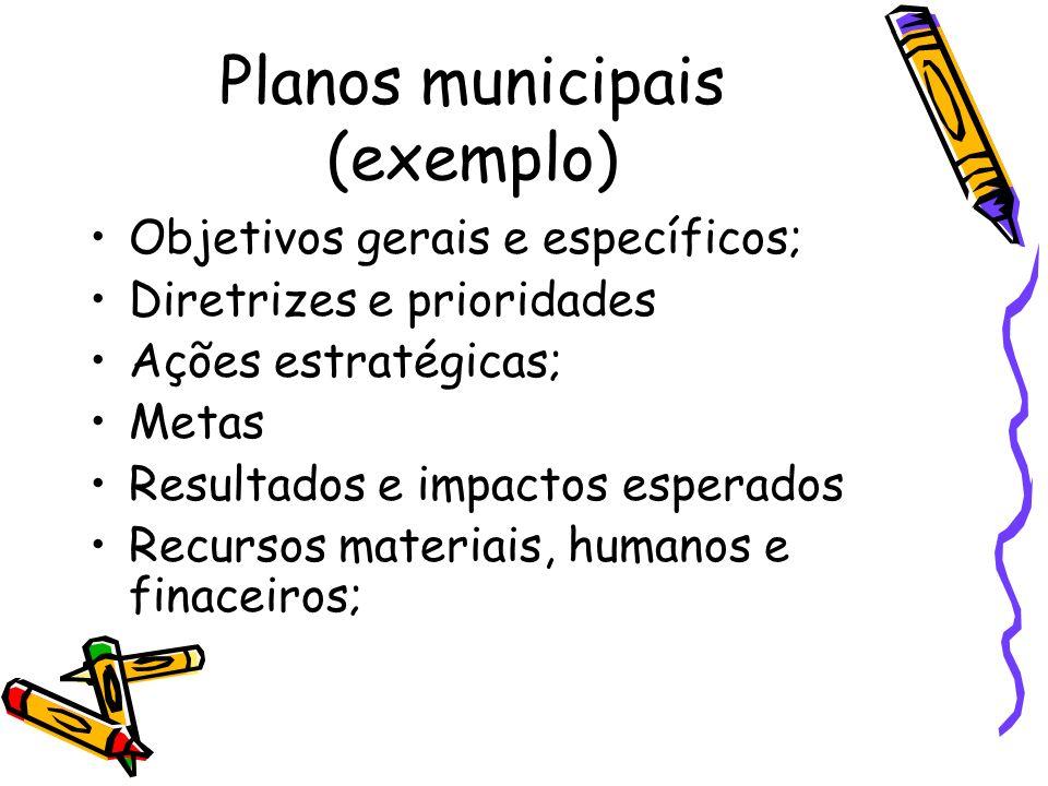 Planos municipais (exemplo)