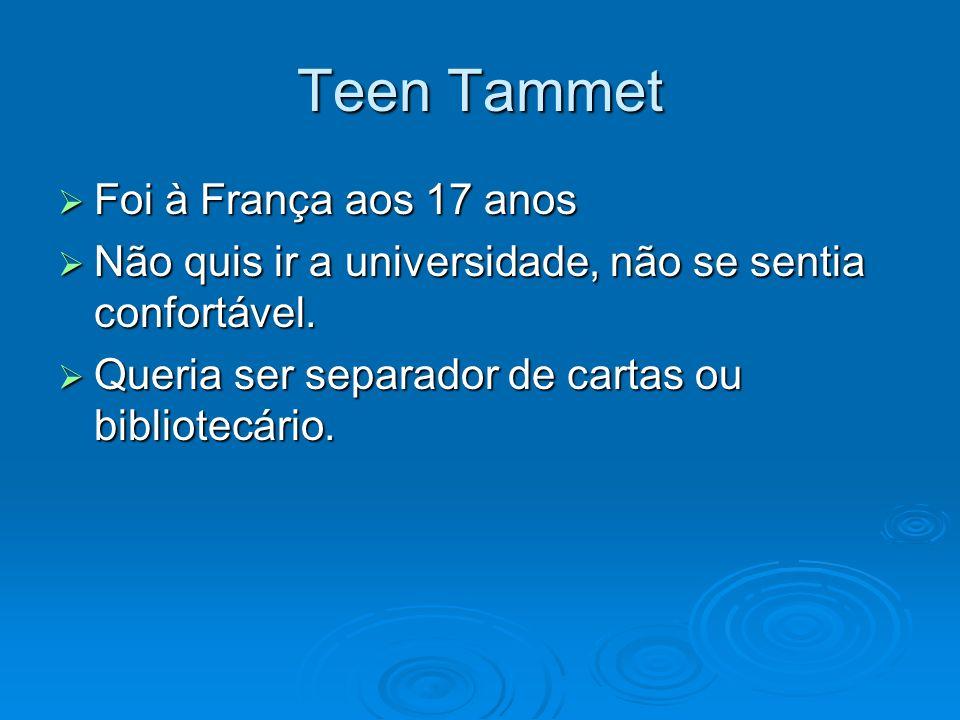 Teen Tammet Foi à França aos 17 anos