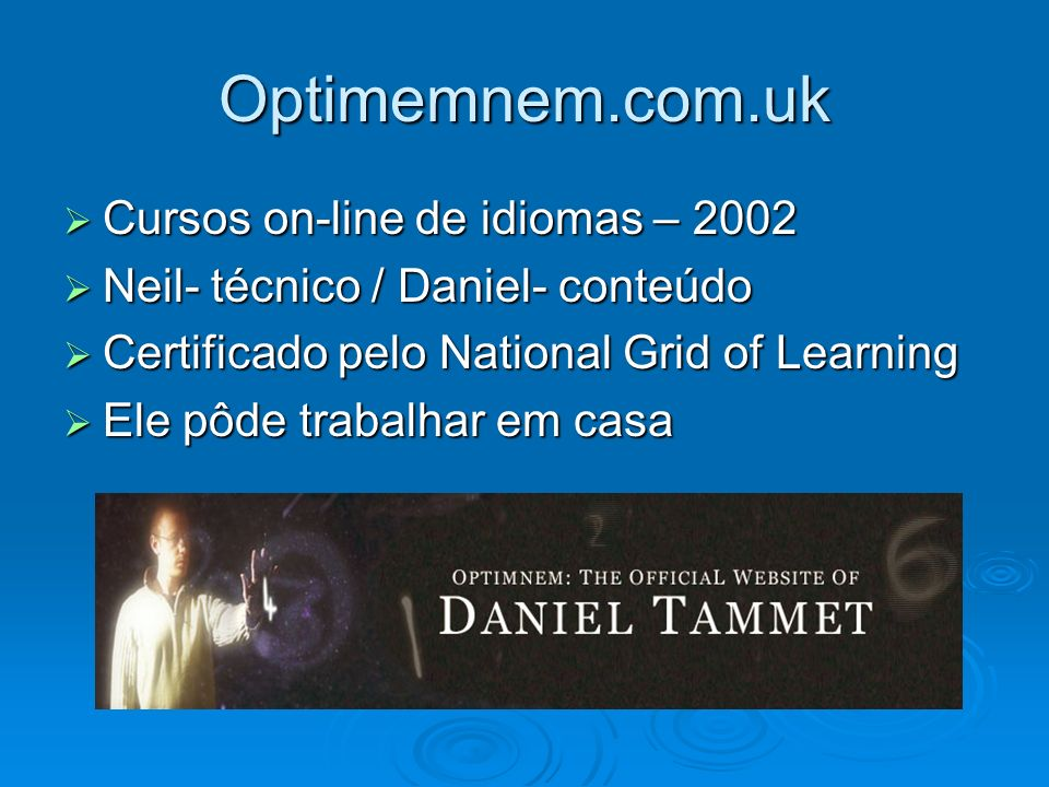 Optimemnem.com.uk Cursos on-line de idiomas – 2002