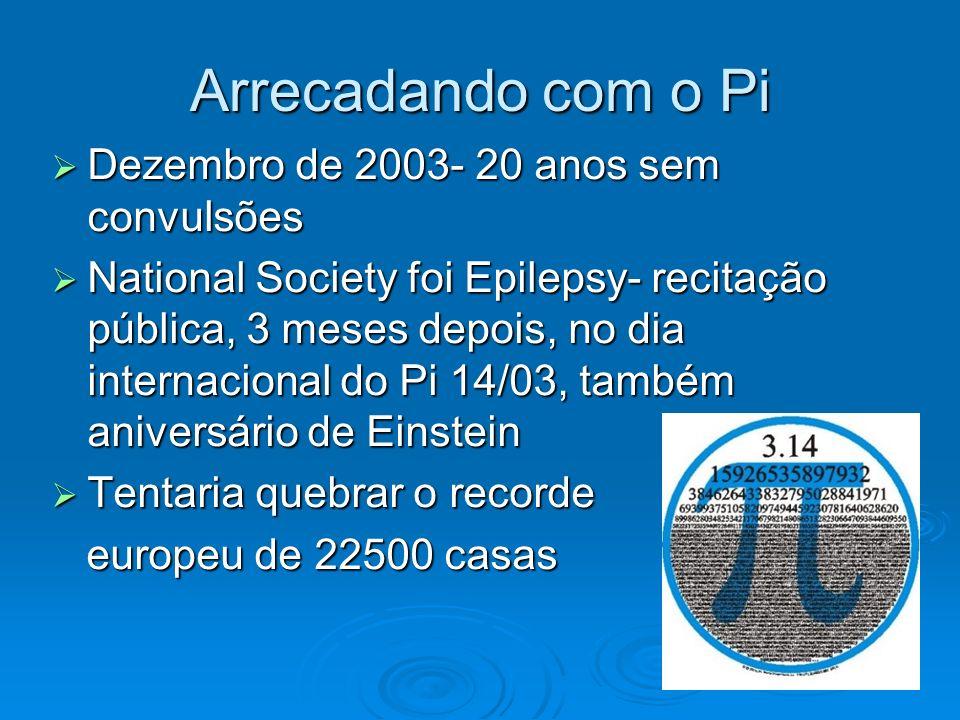 Arrecadando com o Pi Dezembro de 2003- 20 anos sem convulsões