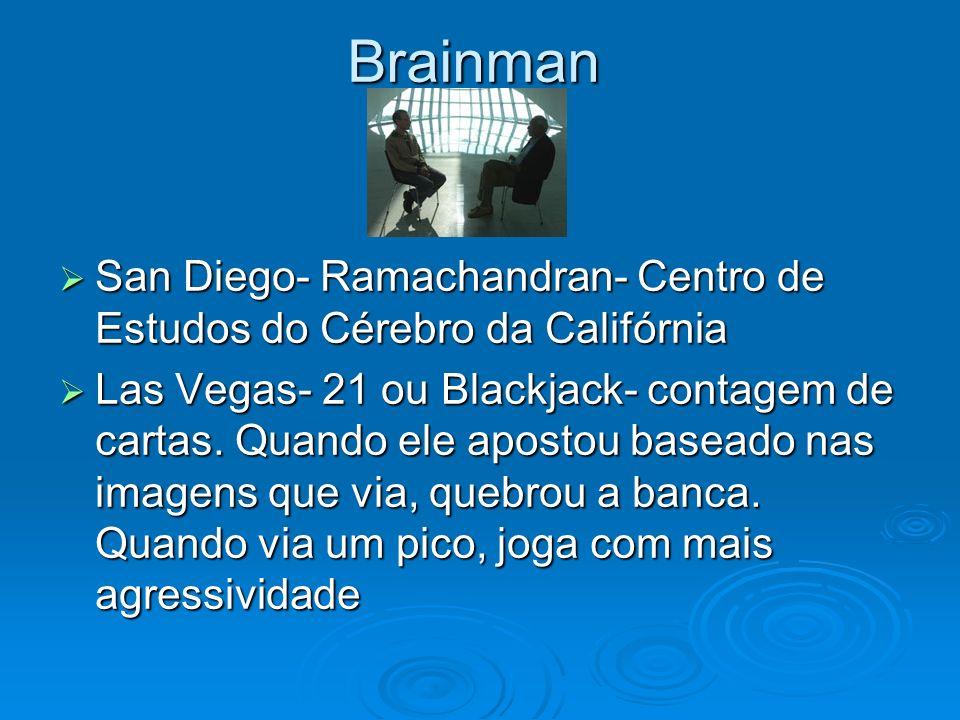 Brainman San Diego- Ramachandran- Centro de Estudos do Cérebro da Califórnia.