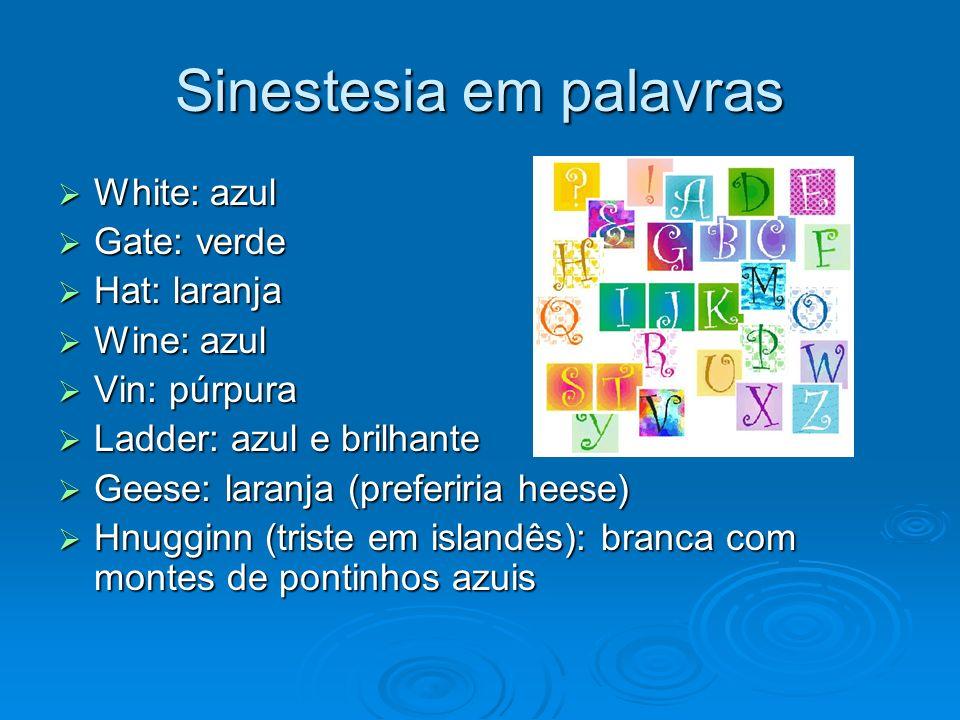 Sinestesia em palavras