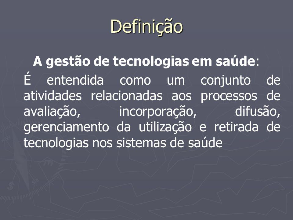 A gestão de tecnologias em saúde: