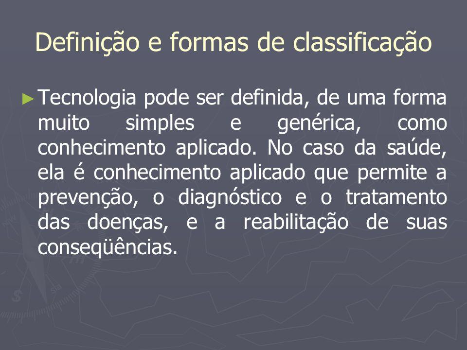 Definição e formas de classificação