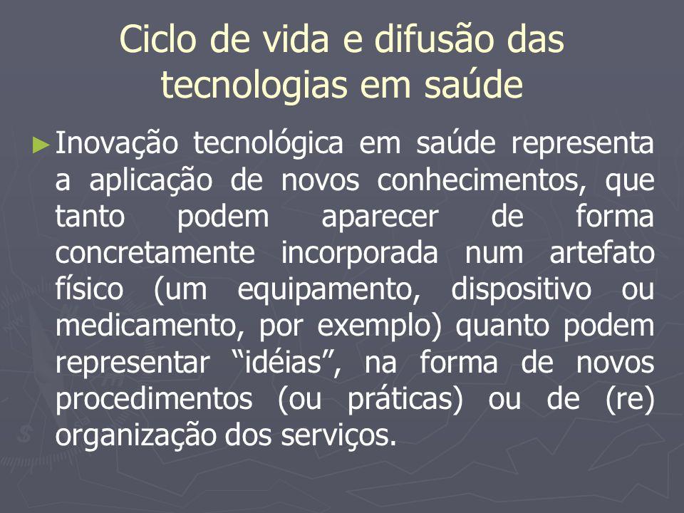 Ciclo de vida e difusão das tecnologias em saúde