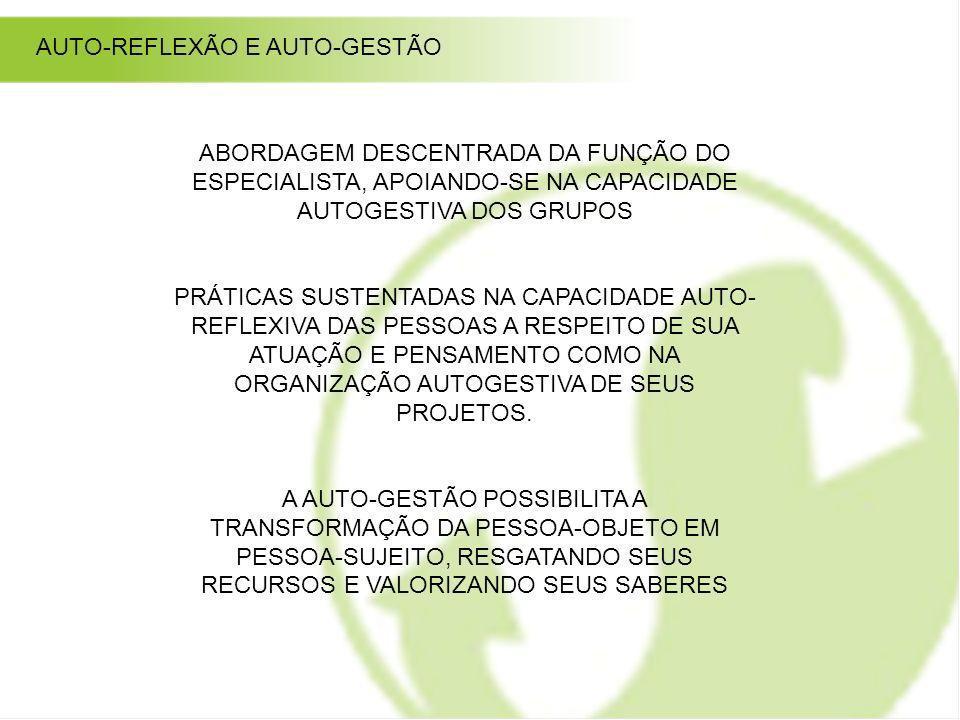 AUTO-REFLEXÃO E AUTO-GESTÃO