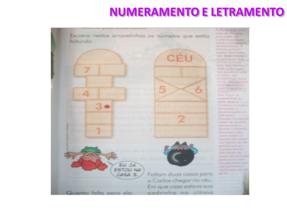NUMERAMENTO E LETRAMENTO