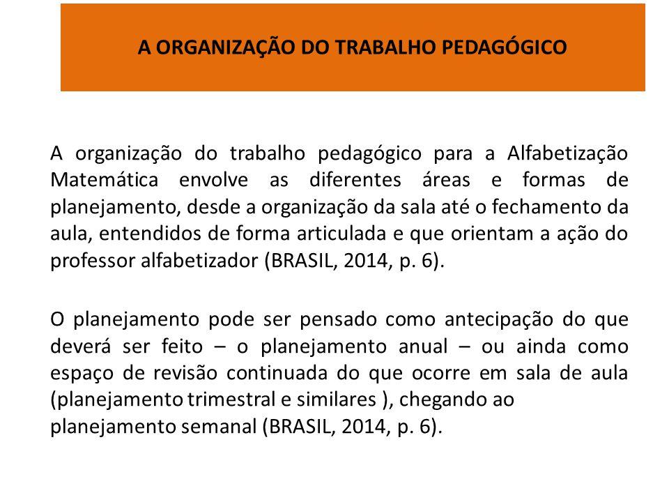 A ORGANIZAÇÃO DO TRABALHO PEDAGÓGICO