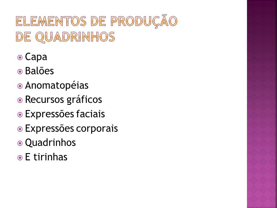 Elementos de produção de quadrinhos