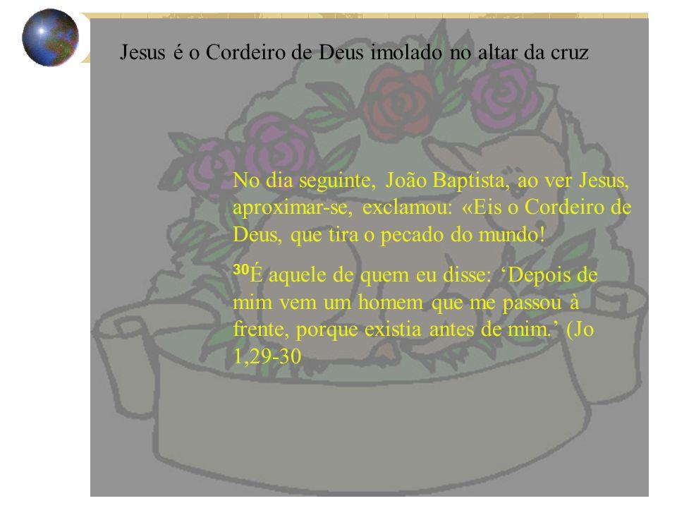 Jesus é o Cordeiro de Deus imolado no altar da cruz
