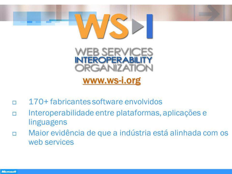 www.ws-i.org 170+ fabricantes software envolvidos