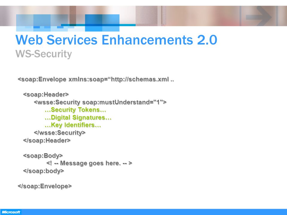 Web Services Enhancements 2.0 WS-Security