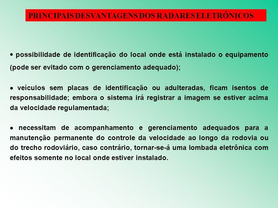 PRINCIPAIS DESVANTAGENS DOS RADARES ELETRÔNICOS