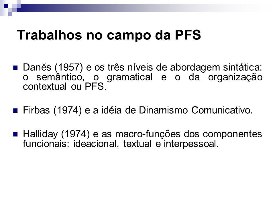 Trabalhos no campo da PFS