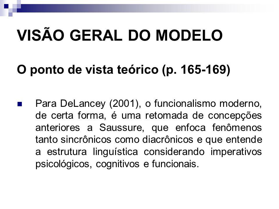 VISÃO GERAL DO MODELO O ponto de vista teórico (p. 165-169)