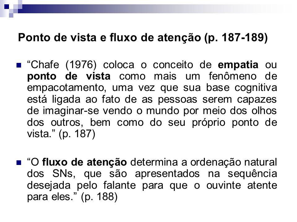 Ponto de vista e fluxo de atenção (p. 187-189)