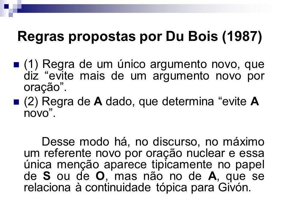 Regras propostas por Du Bois (1987)